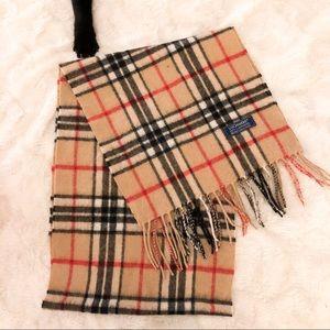 Plaid Burberry style scarf